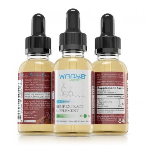 All Natural Cinnamon CBD Oil by WAAYB Organics