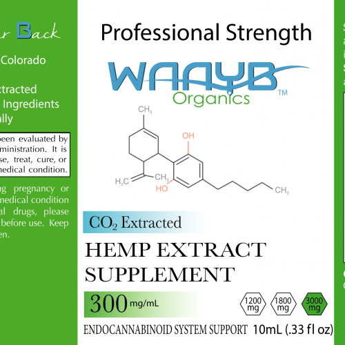 WAAYB-Organics-Flavorless-3000mg-10mL-Label