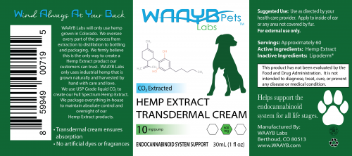 WAAYB Organics Transdermal CBD for Pets