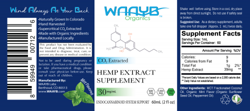 WAAYB Organics 1800mg Mint CBD Oil