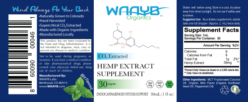 WAAYB Organics 900mg Mint CBD Oil