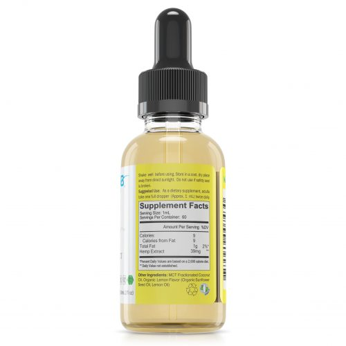 WAAYB Organics Lemon CBD Oil