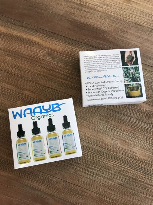 Try all four flavors of WAYB Organics cbd oil. Lemon, Mint, Cinnamon and Flavorless in the 20mg/mL serving strength.