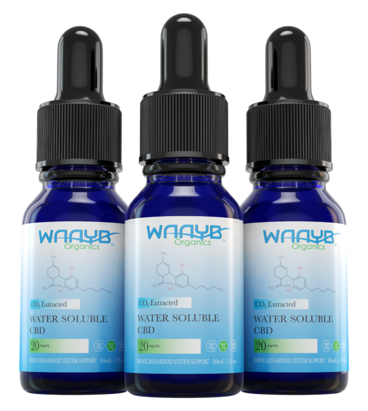 WAAYB Organics Water Soluble CBD. 20mg/mL