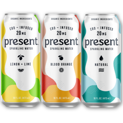 Present CBD Infused Sparkling Water