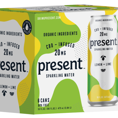 Present Lemon Lime CBD Infused sparkling Water
